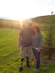 Kevin & I in Vail, Colorado enjoying the sunset on a ranch.
